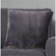 Díszpárnahuzat, finom puha, antracit, 45x45cm (E911255)
