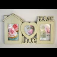 KÉPKERET 3KÉP HOME+LOVE, MŰA. 42,2*25,7*1,7CM- (E505263)