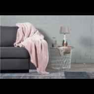 Takaró, nagyon puha, gyönyörű, világos rózsaszín, 150x200 cm (E901446)