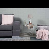 Díszpárnahuzat, finom puha, világos rózsaszín, 45x45cm (E911257)