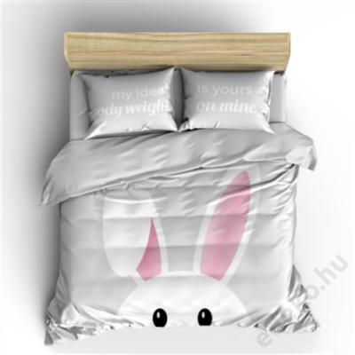 Ágynemű garnitúra, fiatalos megjelenés, Bunny, szürke - paplanhuzat: 140x200/220 cm, párnahuzat: 60x70 (E902289)