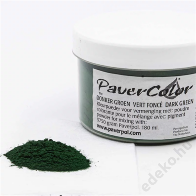 PaverColor színező porok, dark green/sötétzöld, 180ml (PAV005-DGR180)