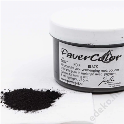 PaverColor színező porok, black/fekete, 240ml (PAV005-FEK240)